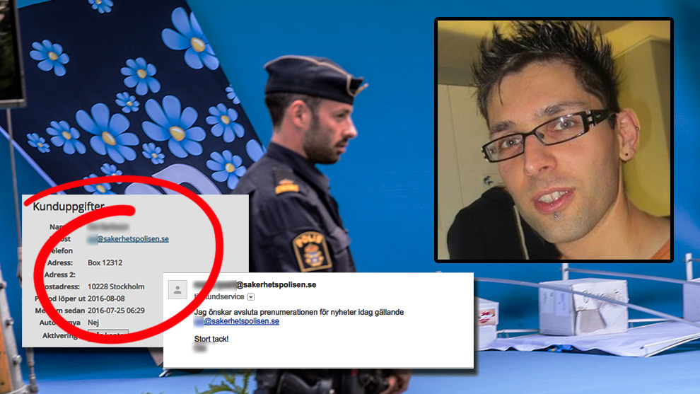 Säkerhetspolisen var så intresserade av Putilov att de tecknade en prenumeration i myndighetens namn. Inklippt Alexander Friback. Bilden är ett montage. Foto: Nyheter Idag