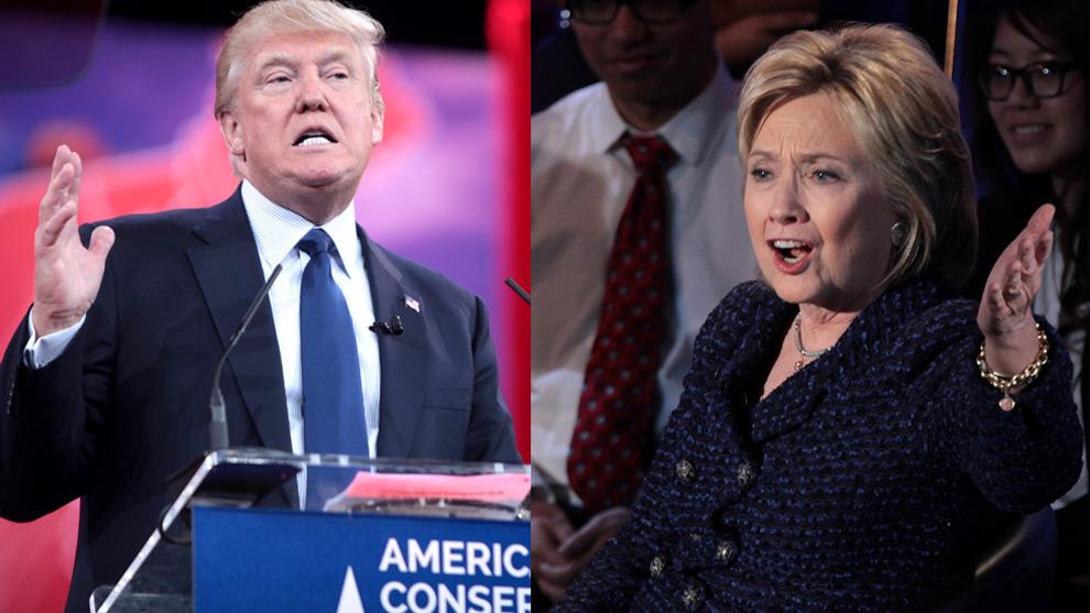 Donald Trump och Hillary Clinton. Foto: Wikimedia Commons
