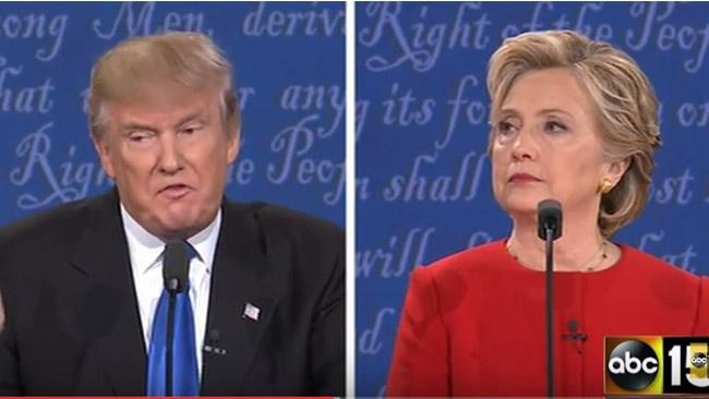 Trump vände Clintons erfarenhet emot henne i den första debatten