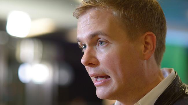 Gustav Fridolin, språkrör för Miljöpartiet. Foto: Nyheter Idag