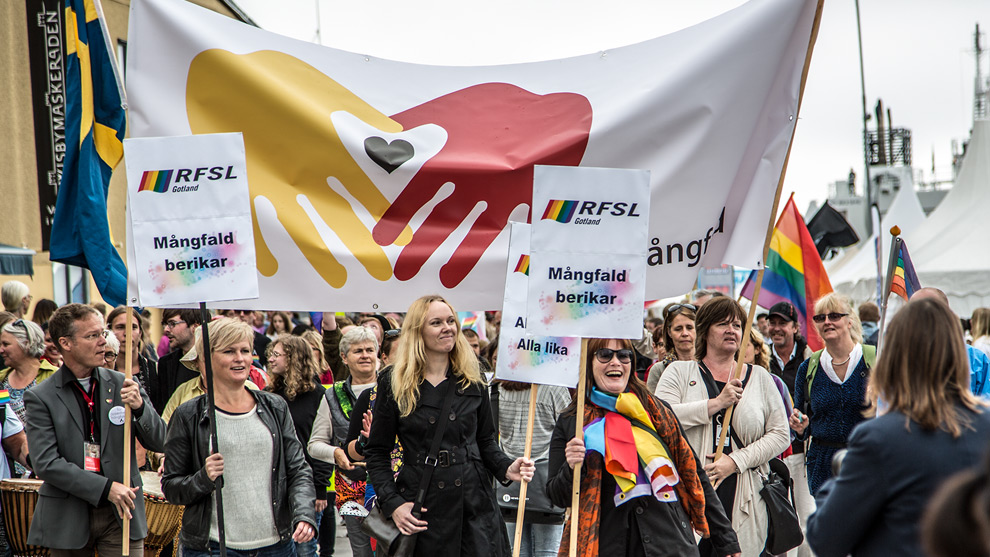 En tidigare antirasistisk demonstration i Visby. Personerna på bilden har inget med artikeln att göra. Foto: Nyheter Idag
