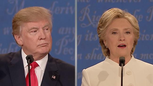 """Trump i nattens debatt: """"Vi ska bygga muren"""""""
