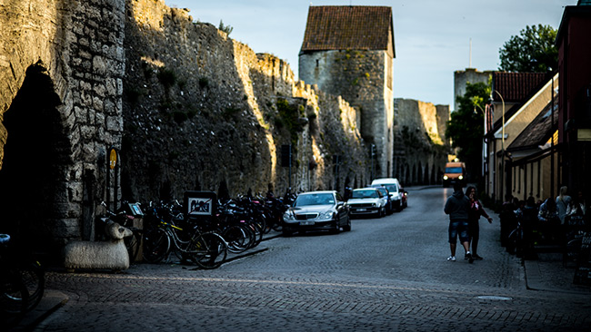 A pedestrian street in Visby. The picture was taken at a different time. Photo: News Today