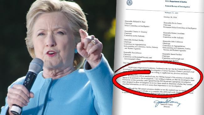 FBI utreder nya Clinton-mejl