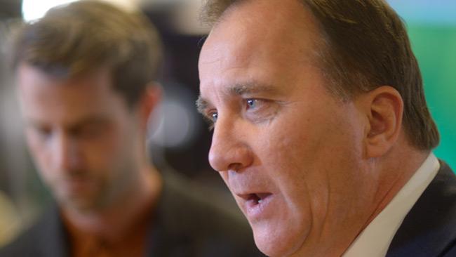 Löfven gick till rasande attack mot Åkesson. Foto: Nyheter Idag