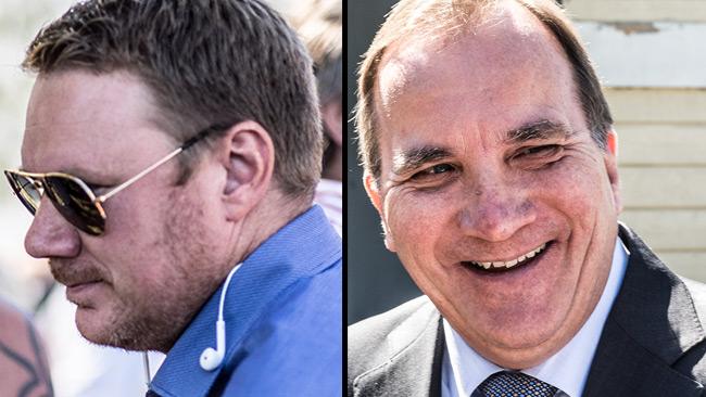 Niklas Svensson (t.v) och Stefan Löfven (t.h). Foto: Nyheter Idag.