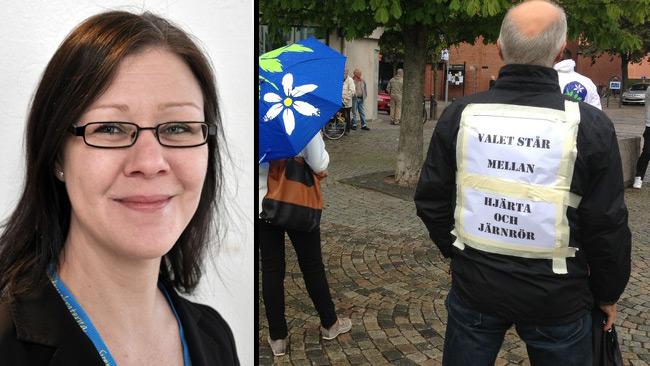 Det är en stor klyfta mellan Therese Borg (t.v) och Bert-Inge Karlsson (t.h).