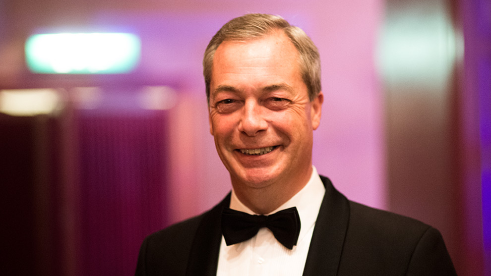 Nigel Farage. Foto: Nyheter Idag