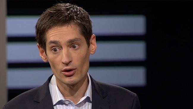 Wolodarski talar ut om overklighetskänslan som drabbade honom i SVT Agenda. Foto: svtplay.se
