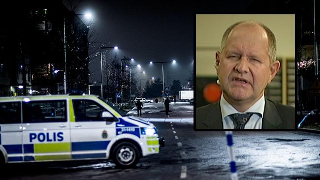 Eliasson lovade en vändning om grova brott. Foto: Nyheter Idag / svtplay.se
