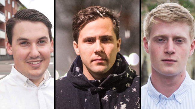 Forsell (t.v), Dousa (i mitten) samt Ek (t.h). Foto: Dennis Lindbom/Nyheter Idag/Pressbild