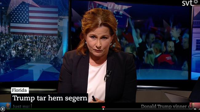 Det var en tuff valvaka för SVT. Foto: Faksimil svtplay.se