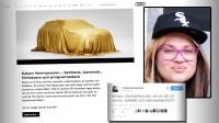 Audi anlitar Kakan Hermansson som ansikte utåt – känd för att håna vita män. Bilden är ett montage. Foto: Faksimil Audi.se/Wikimedia Commons/Twitter