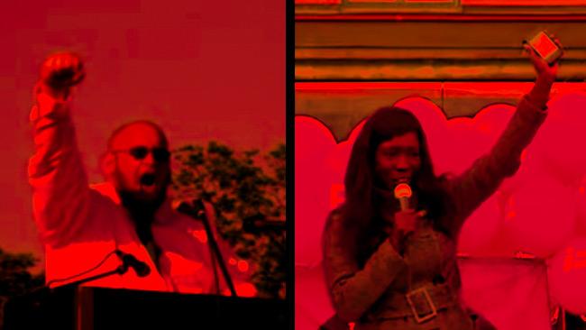 Magnus Söderman (t.v) och Victoria Kawesa (t.h) Foto: Youtube