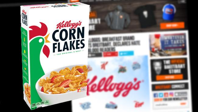 """""""Kellogs spottar arbetarklassen i ansiktet"""", menar sajten Breitbart som nu uppmanar till bojkott."""