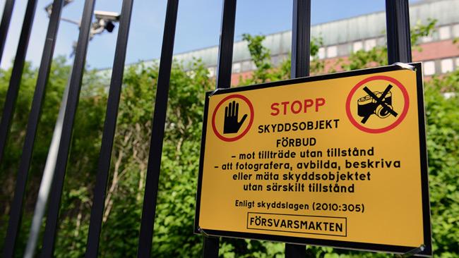 Genrebild skyddsobjekt. Foto: Dag Enander/Försvarsmakten