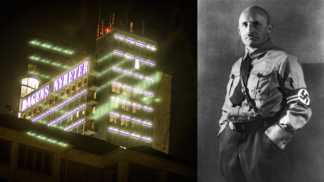 DN (t.v) och nazisternas propagandachef Julius Streicher (t.h)