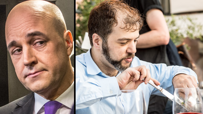 Sanandaji (t.h) begår lustmord på Reinfeldts argument i sociala medier. Foto: Nyheter Idag