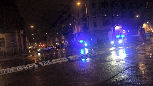 Polisen har spärrat av stora delar av vasastan i Göteborg. Foto: Privat