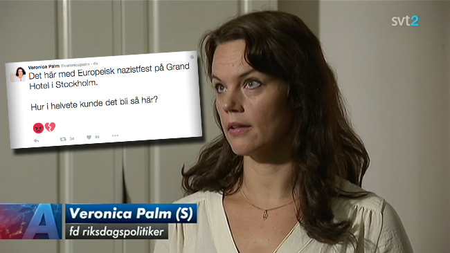 Palm beklagade sig över tonläget på Twitter för SVT. Foto: Faksimil svtplay.se samt Twitter
