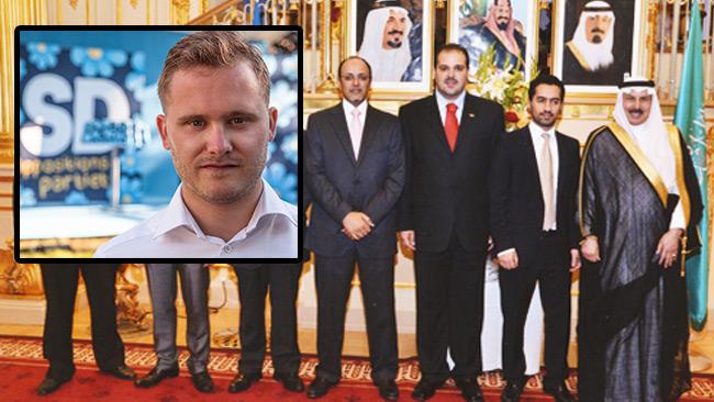 Henrik Vinge (infälld) poängterar att Saudiska diktatorer går bra för Grand Hotel.