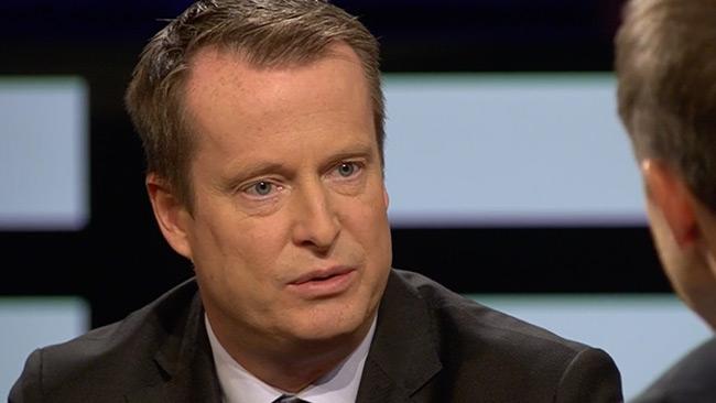 Anders Ygeman (S) i SVT Agenda. Foto: svtplay.se