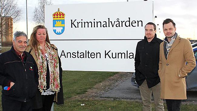 Bara dagar efter krogslagsmålet besöker Ekeroth Kumlaanstalten. Foto: SD Örebro län
