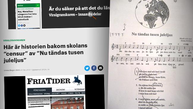 Viralgranskaren hade fel och Fria Tider hade rätt. Foto: Faksimil metro.se samt Peter Landälv