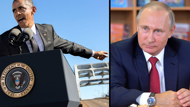 Obama kastar ut ryska diplomater från USA. Foto: Wikimedia Commons samt Kremlin.ru