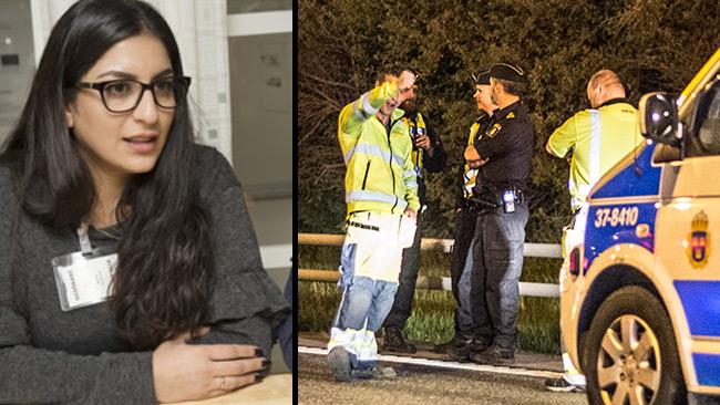 Rojin till vänster i bild. Foto: Polisen samt Nyheter Idag