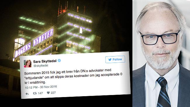 Peter Danowsky infälld till höger i bild. Foto: Nyheter  Idag / Twitter / danowsky.se