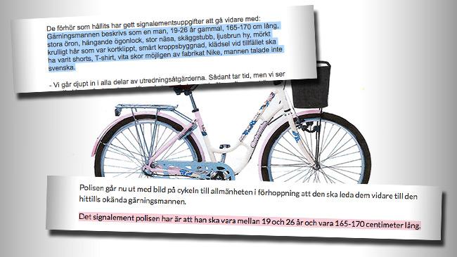 Sydsvenskan mörkar signalementet. Foto: Faksimil polisen.se samt sydsvenskan.se