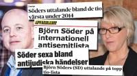 Tyst i media när Wallström hamnar på exakt samma lista som Söder.