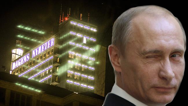 DN är en av tidningarna som pekas ut som rysk propagandaspridare. Foto: Nyheter Idag
