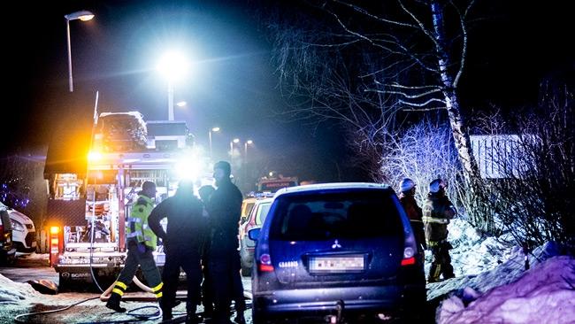 En gripen för mordbrand i Huddinge – Hus stod i lågor