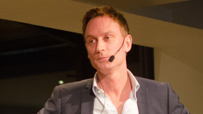 DN:s redaktionschef Caspar Opitz. Foto: Nyheter Idag