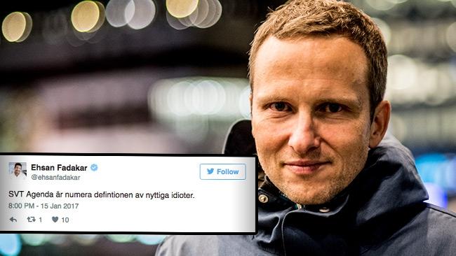 """Holmberg svarar Fadakar efter idiot-attacken mot Agenda: """"Vi är journalister"""""""