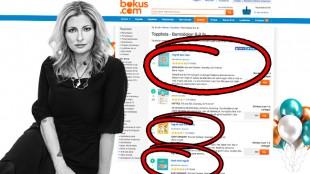 Katerina Janouch dominerar stort med sina böcker på försäljningstoppen hos Bokus.
