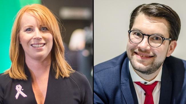 Både Annie Lööf och Jimmie Åkesson har anledning att vara glada. Foto: Nyheter Idag