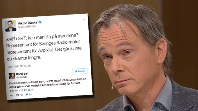 SVT möter kritik för det kontroversiella beslutet att bjuda in Sjunnesson. Foto: svtplay.se