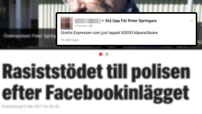 Foto: Faksimil expressen.se samt Facebook
