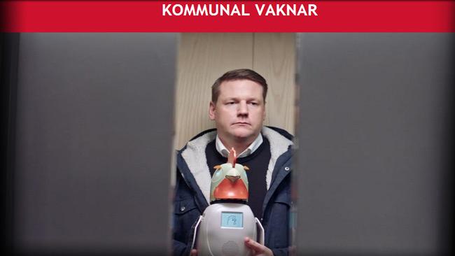 Kommunals ordförande Tobias Baudin och verktyget som ska reparera förtroendet. Foto: Faksimil kommunal.se