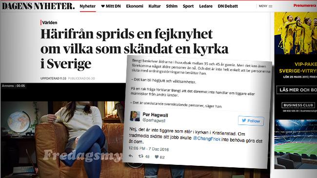 Foto: Faksimil dn.se samt Twitter
