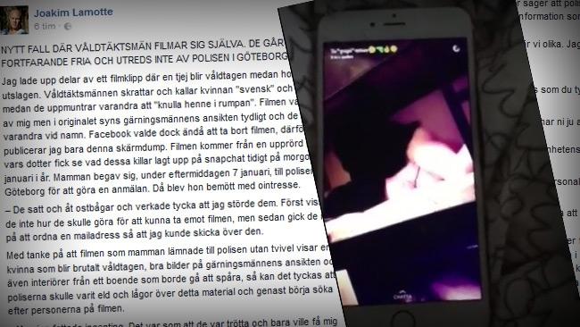 Våldtäktsmän filmade sig själva: Kallade offret för svensk och tjockis – går fortfarande fria