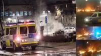 Det var totalt kaos i Rinkeby. Foto: Nyheter Idag samt Facebook