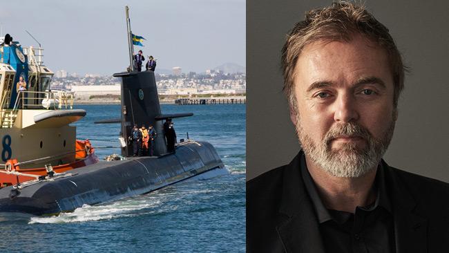 En svensk ubåt till vänster och Kuylenstierna till höger. Foto: Anders Sjödén/Försvarsmakten samt fastator.se