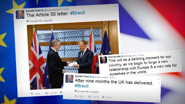 """Storbritannien inleder Brexit-processen: """"De bästa dagarna ligger framför oss"""""""