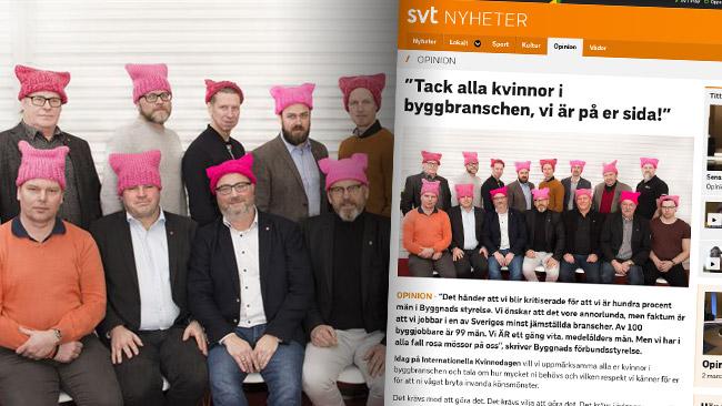 Byggnads debatterar jämställdhet. Foto: Pressbild / Faksimil svt.se