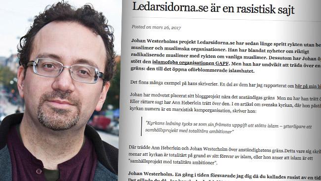 Torbjörn Jerlerup menar att Ledarsidorna.se gått över gränsen. Foto: Jonathan Rieder Lundkvist