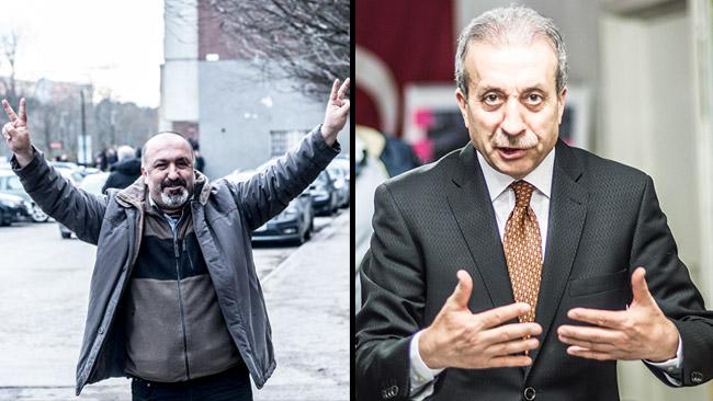 Özgür Cetinkaya (t.v) och Mehmet Mehdi Eker (t.h). Foto: Nyheter Idag